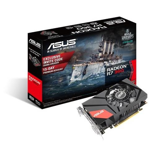ASUS Radeon Mini R7 360, 2GB GDDR5, PCI Express 3.0
