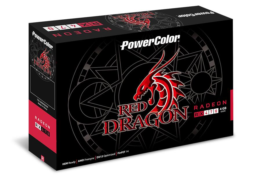 PowerColor Red Dragon Radeon™ RX 470 4GB GDDR5, DL DVI-D/ HDMI/ DisplayPort x3