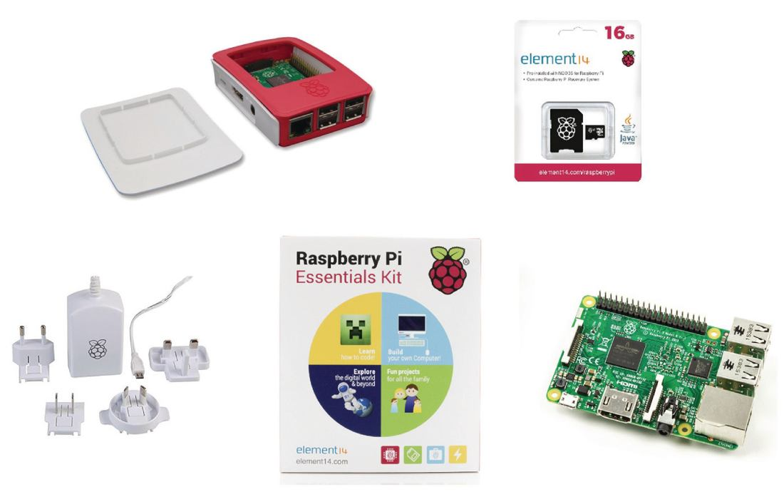 Raspberry Pi 3 Essentials Kit, 64 bit, WiFi, Bluetooth + software