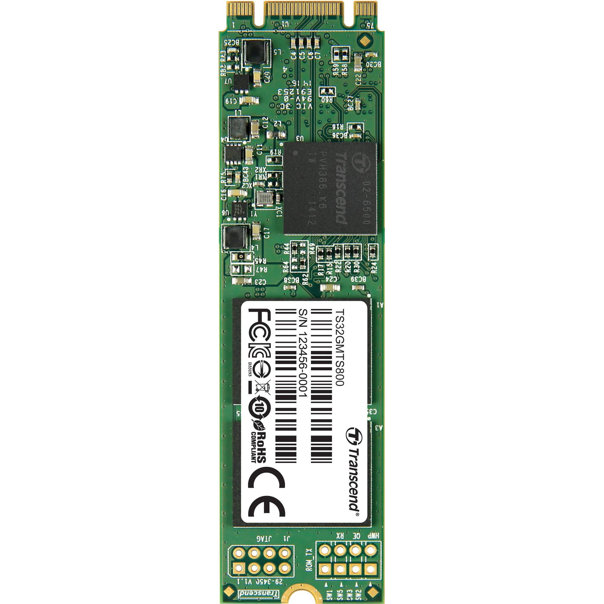 TRANSCEND MTS800 32GB SSD disk M.2, SATA III (MLC)