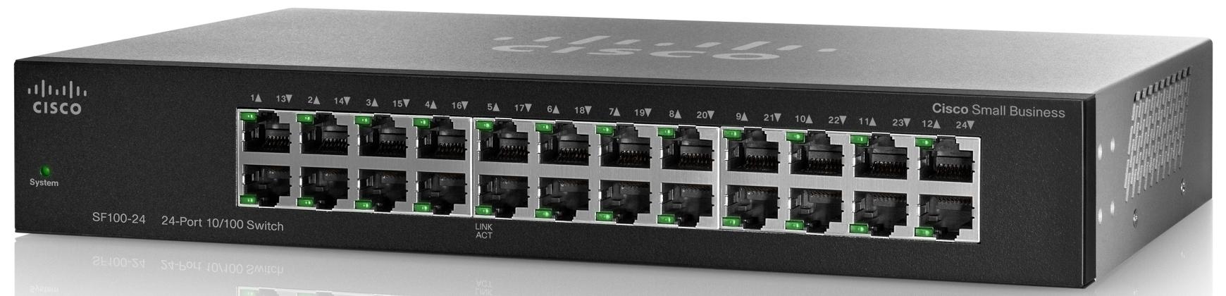 Cisco SF100-24, 24x10/100 Rack Switch, SF100-24-EU