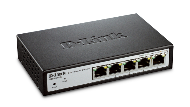 D-Link DGS-1100-05/E 5-Port Gigabit Smart Switch- 5-Port 100BaseTX Auto-Negotiating 10/100/1000Mbps Switc