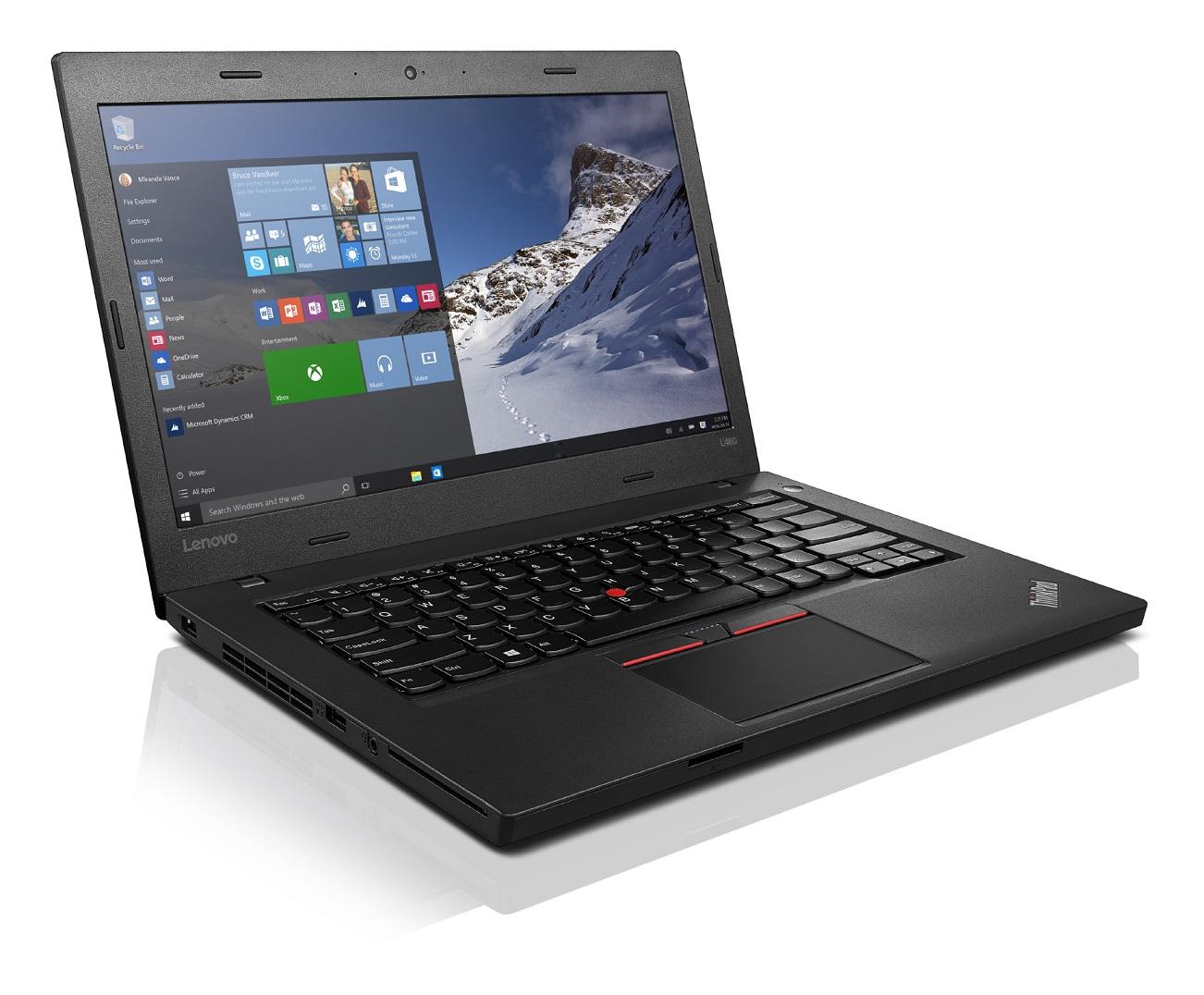 """Lenovo ThinkPad L460 i5-6200U/4GB/8GB+500GB SSHD/HD Graphics 520/14""""FHD IPS/W10PRO/Black"""