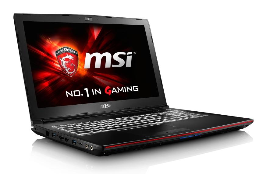 """MSI GP62 7RD-028CZ Leopard/i7-7700HQ Kabylake/8GB/128GB SSD+1TB HDD 7200 ot./DVDRW/GTX1050 2GB/15.6"""" FHD/Win10"""