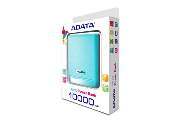 ADATA PowerBank PV150 - externí baterie pro mobil/tablet 10000mAh, 2,1A, modrá
