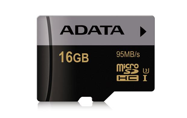 ADATA Micro SDHC karta Premier Pro 16GB UHS-I U3 + SD adaptér, (R:95MB)