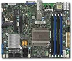 SUPERMICRO mini-ITX MB Xeon D-1518 (4-core), 4x DDR4 ECC DIMM,6xSATA,16xSAS3,2x PCI-E 3.0 x8, 2x10Gb SFP+ LAN,IPMI