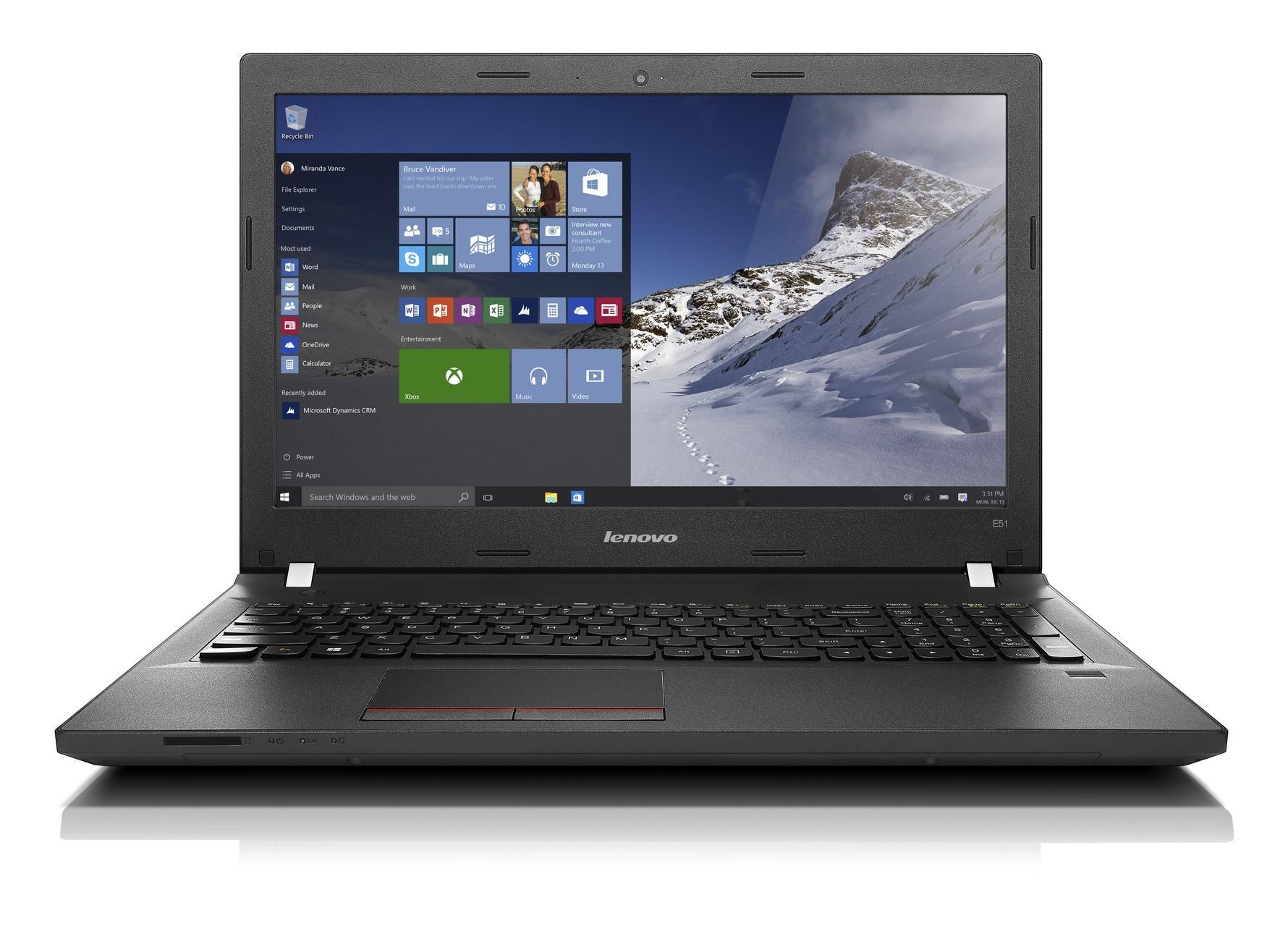"""LENOVO E51-80 černý 15.6"""" 1920x1080mat,i5-6200U@2.3GHz, 4GB, 8+1TB54,HD520,DVD,VGA,HDMI,3xUSB,4c,W10P + 3r on-site"""