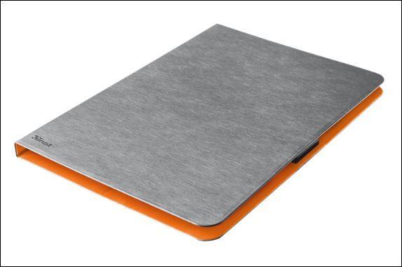 "TRUST Pouzdro na tablet 7-8"" Aeroo Ultrathin Folio Stand for tablets - šedé/oranžové"