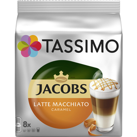 TASSIMO LATTE M. CARAMEL JACOBS KRÖN.