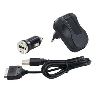 Whitenergy nabíjecí sada pro GSM 3v1, pro iPhone, síť/sám/USB