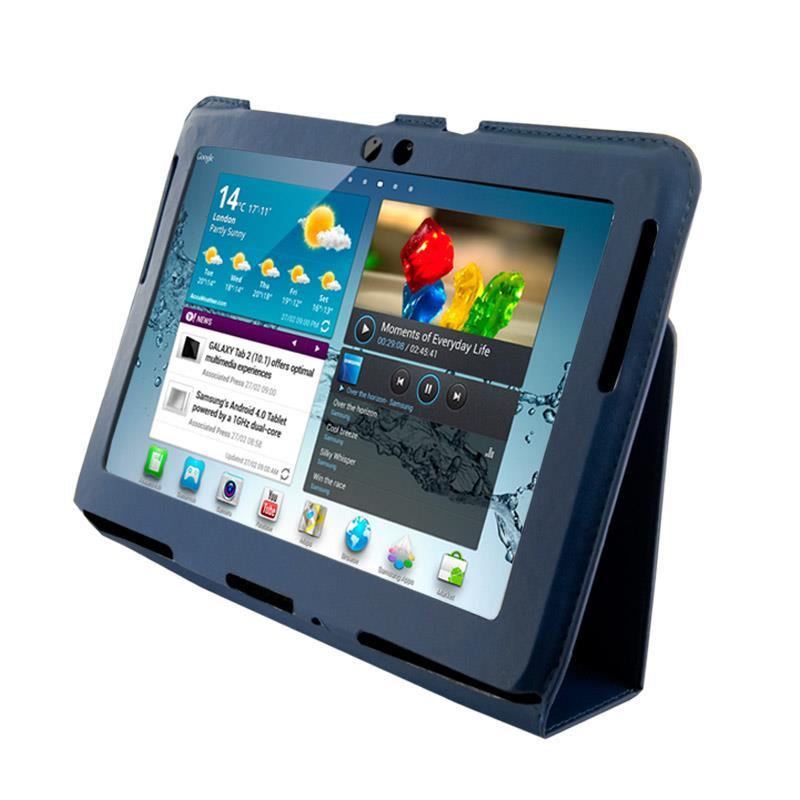 4World Pouzdro - stojan pro Galaxy Tab 2, Ultra Slim, 10'', modrý