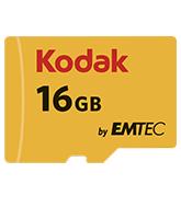 Kodak memory card microSDHC 16GB 85/20MB/s + adapter