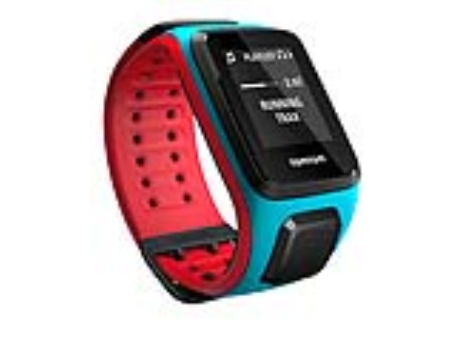 TomTom GPS hodinky Runner 2 Cardio + Music (L), modrá/červená