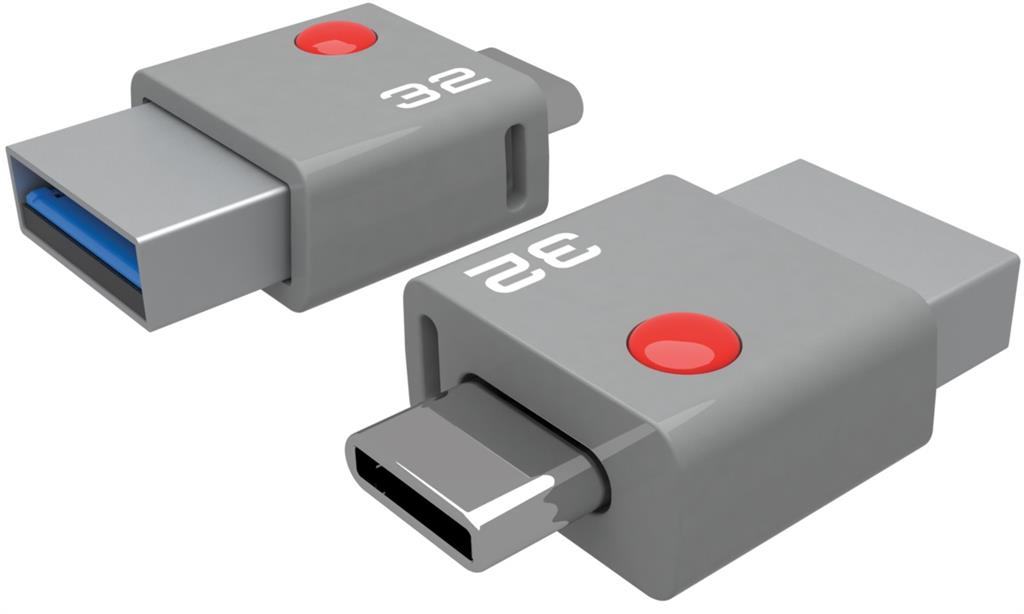 Emtec memory 32GB USB 3.0 & Type-C connector T400 (110MB/s, 20MB/s)
