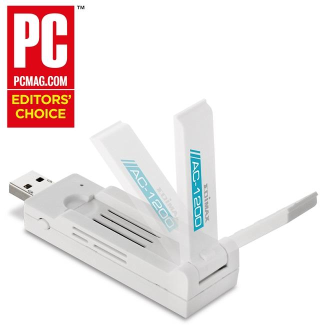 Edimax AC1200 Dual Band 802.11ac USB 3.0 adapter, 5GHz + 2,4GHz, HW WPS