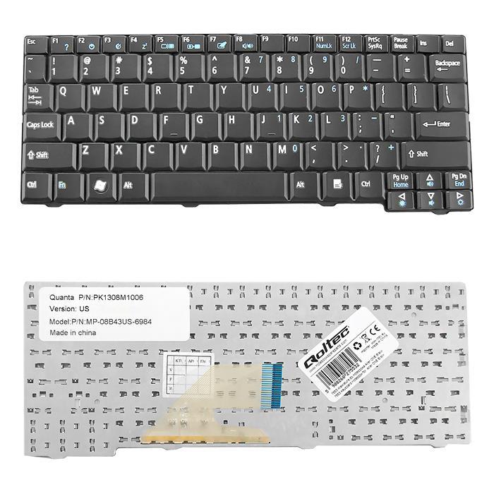 Qoltec Klávesnice pro notebook Acer ONE BLACK