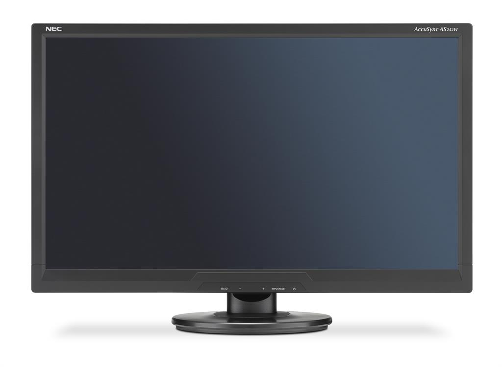 NEC LCD AccuSync AS242W 24'' LED, 5ms, VGA/DVI, 1920x1080, č