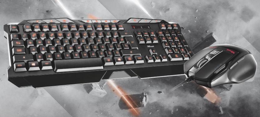 Trust herní klávesníce a myš GXT 282 Combo Box, černá