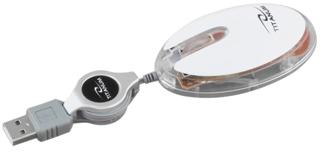 Titanum TM112W ELVER optická myš, 1000 DPI, USB, navíjecí kabel, blister, b.