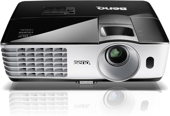 BENQ Dataprojektor MW665+ (WXGA, 3200ANSI,13 000:1, HDMI, USB reader, USB display,10W speaker) + wifi dongle (NFC)