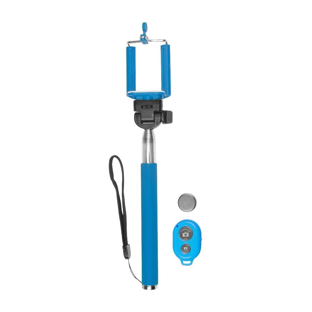 MSONIC Bluetooth monopod na SELFIE s dálkovým ovládáním MST1633B modrý