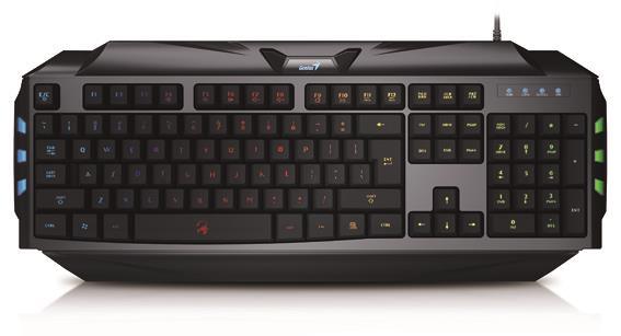 Genius keyboard Scorpion K5 Black, 7 colors backlight
