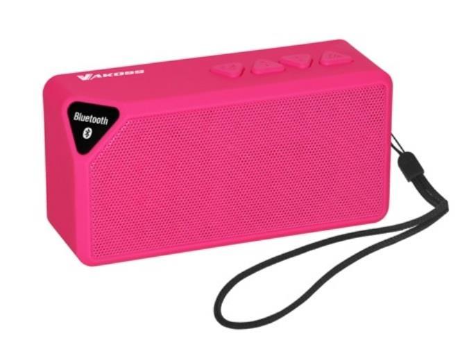 VAKOSS Bezdrátový Bluetooth reproduktor s mikrofonem SP-B1824PK růžová