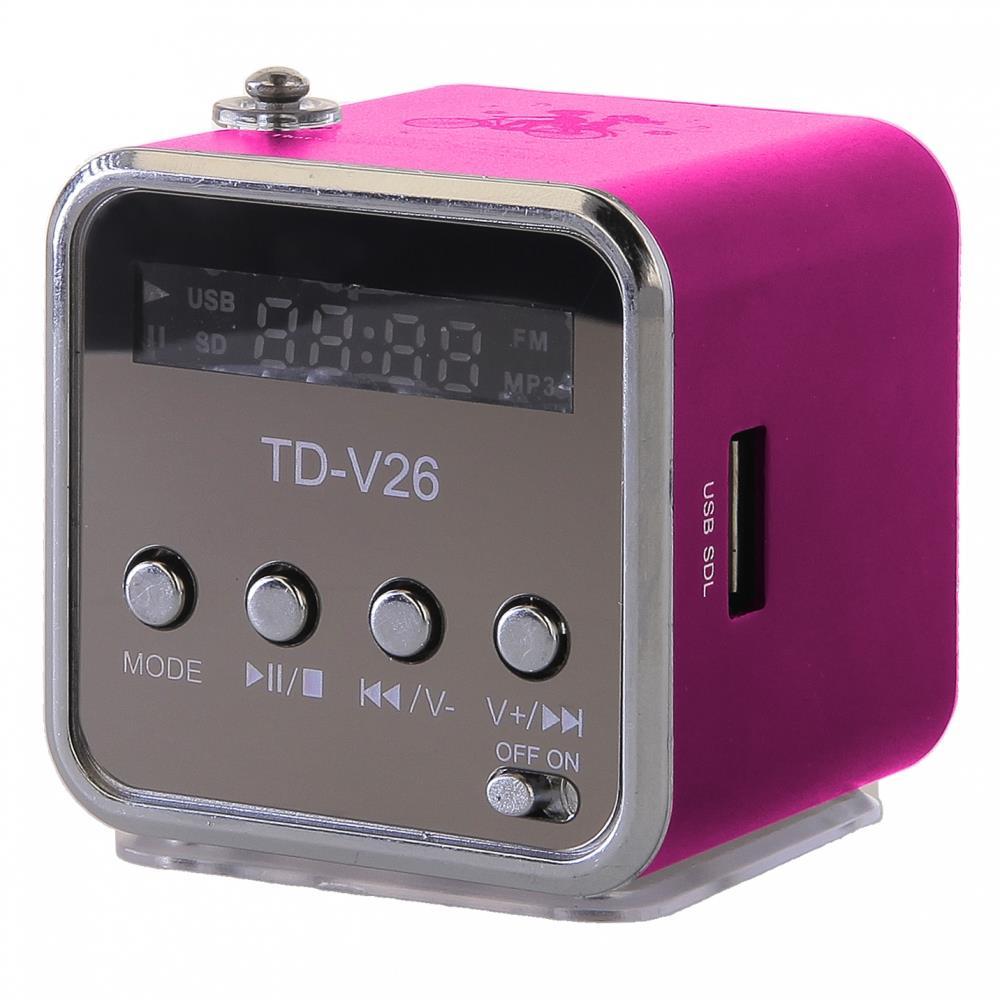 GT TD-V26 mini reproduktor, růžový