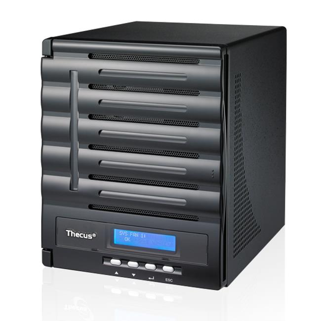 Thecus 5-Bay tower NAS, SATA, 1.86GHz Dual Core, 2GB DDR3, 2x GbE, USB 3.0