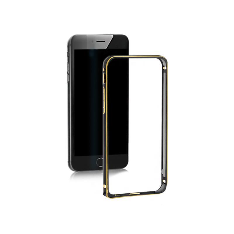 Qoltec Aluminum case for Samsung Galaxy S6 edge | black
