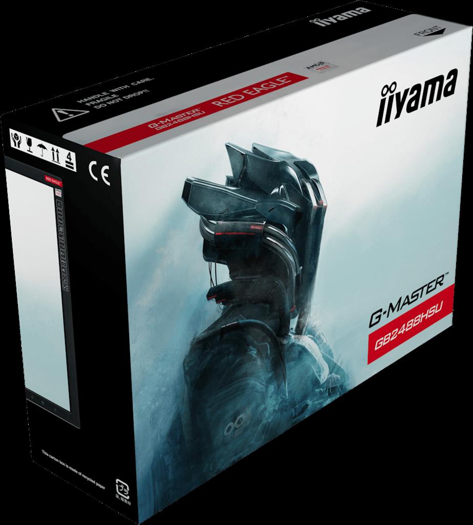 Iiyama LCD GB2488HSU 24'' LED, 1ms, DVI/HDMI/DP, USB,repro,1920x1080,HAS,pivot,č