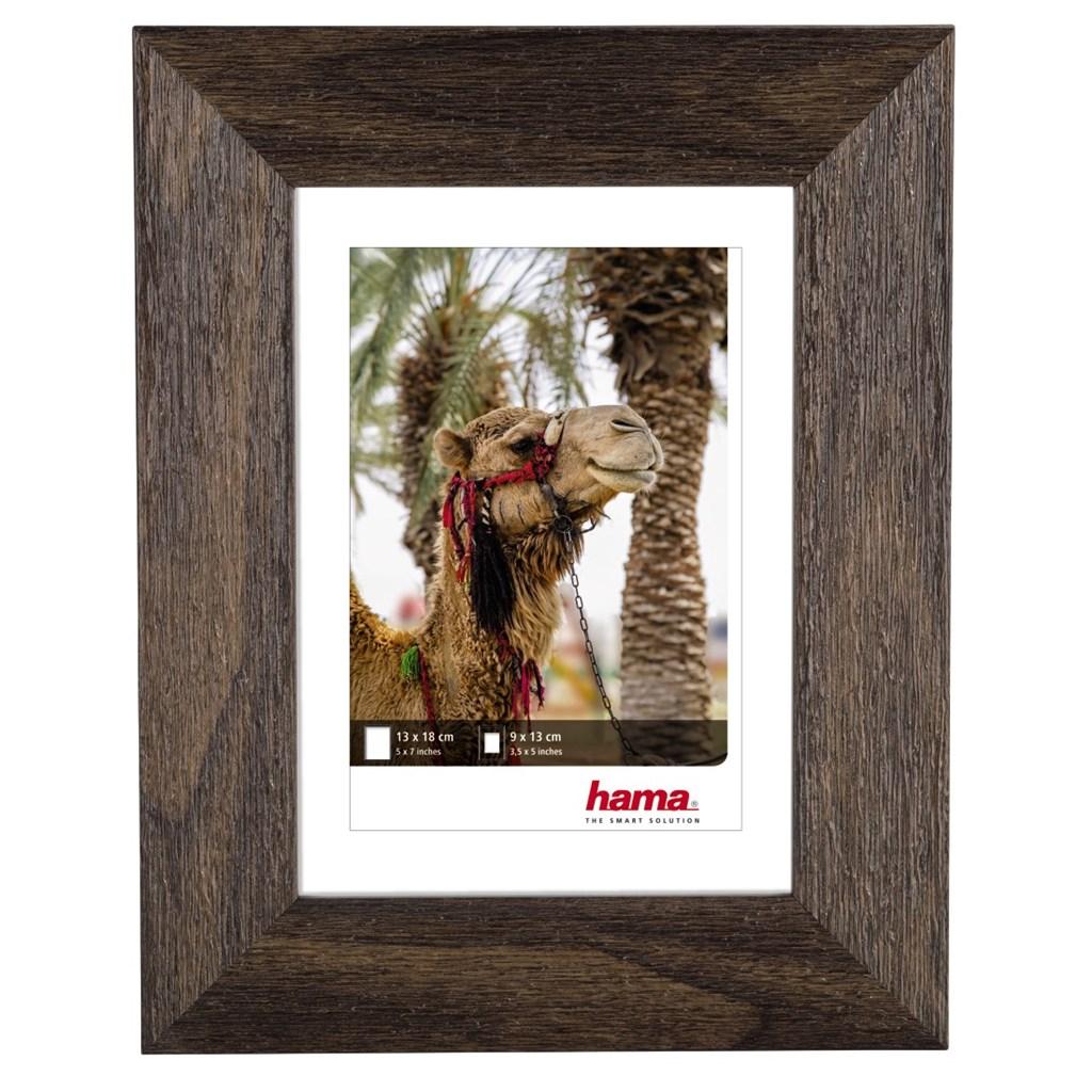 Hama rámeček plastový KAIRO, ořech, 13x18 cm