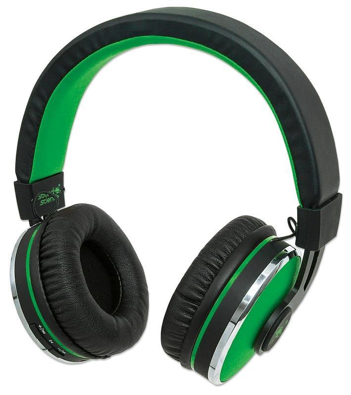 Manhattan Sound Science Cosmos bluetooth sluchátka s mikrofonem, zelená