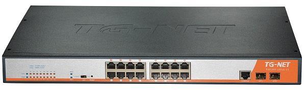 TG-Net GbE Managed Switch 16 1000BaseT Ports, 2 1000BaseX SFP (16 PoE, 300W)