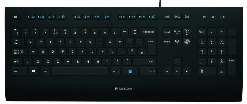 Logitech K280E Comfort klávesnice US INTL