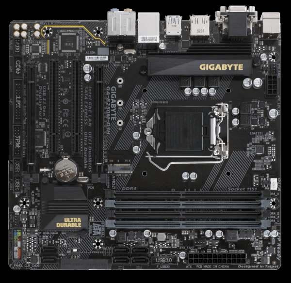 GIGABYTE MB Sc LGA1151 B250M-D3H, Intel B250, 4xDDR4, VGA, mATX