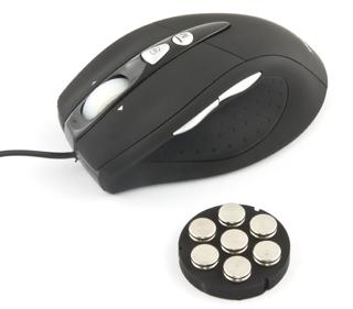 Esperanza EM118 INTRUDER herní optická myš, 800/1600/2400 DPI, 9 tlač., USB, č.