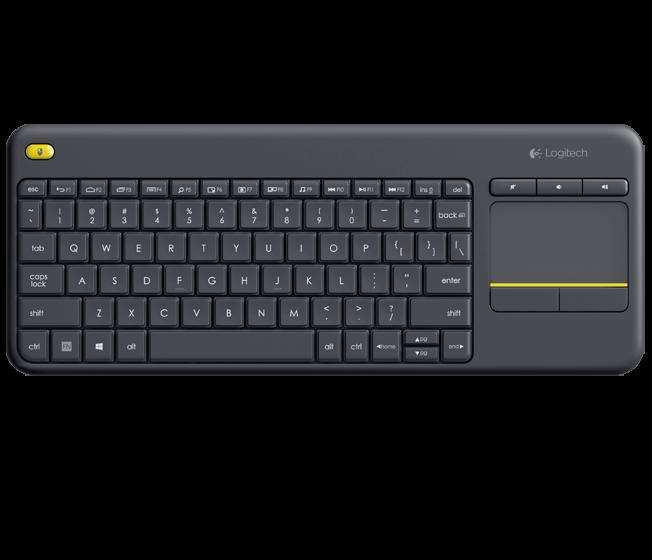Logitech K400 Plus bezdrátová dotyková klávesnice černá, US verze