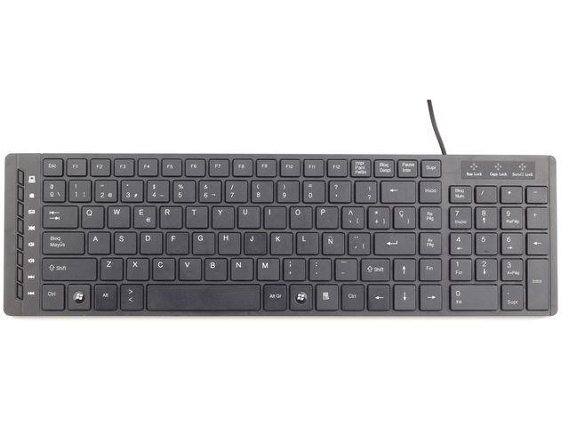Gembird KB-MCH-01 Multimedia ''chiclet'' keyboard USB, RU layout, black