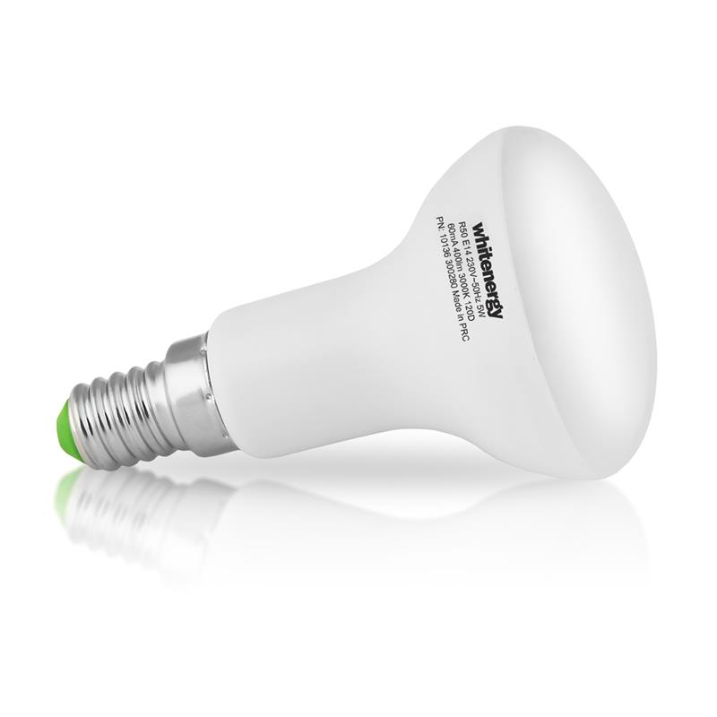 Whitenergy LED žárovka | E14 | 8 SMD 2835 | 5W | 230V | mléko | R50