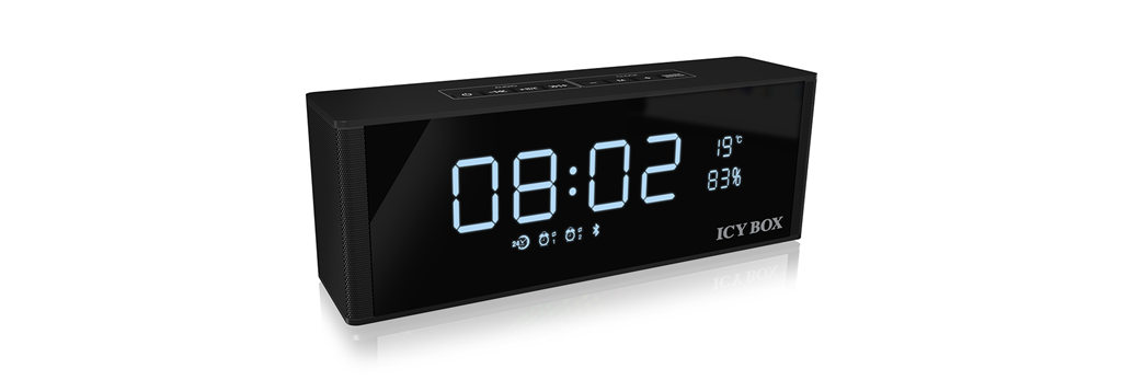 IcyBox Bluetooth FM radio, clock, alarm, speaker and MP3 Player