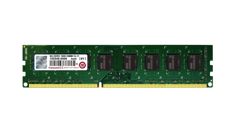 Transcend 8GB 1600MHz DDR3 CL11 DIMM 2Rx8
