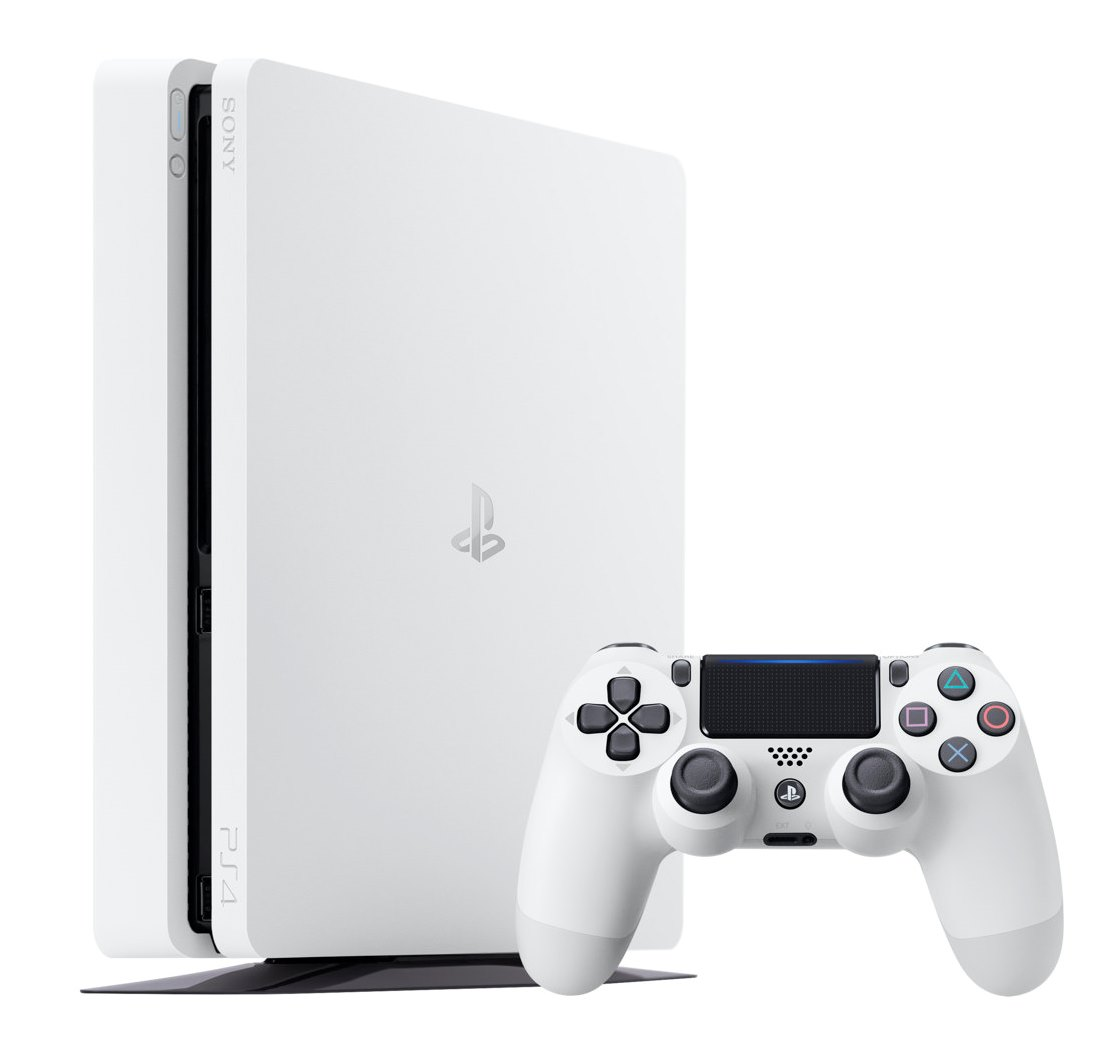 PS4 - PlayStation 4 500GB Slim Glacier White