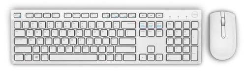 Dell Bezdrátová klávesnice a myš značky Dell – KM636 - americký mezinárodní (QWERTY) - bílá