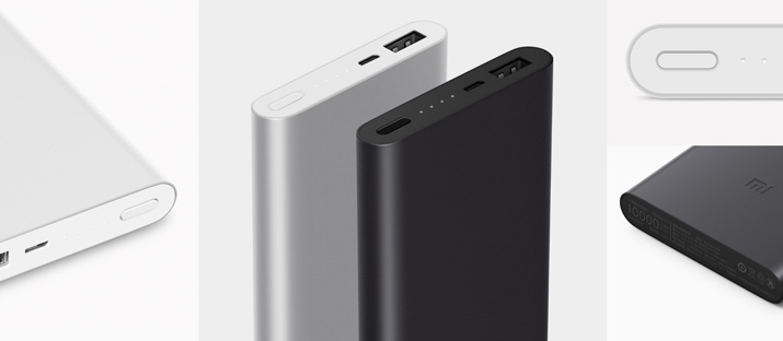 Xiaomi Power Bank Portable 2, 10000 mAh, white/silver