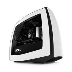 NZXT Manta, počítačová skříň, mITX, USB3.0, bílo-černá, průhl. bočnice
