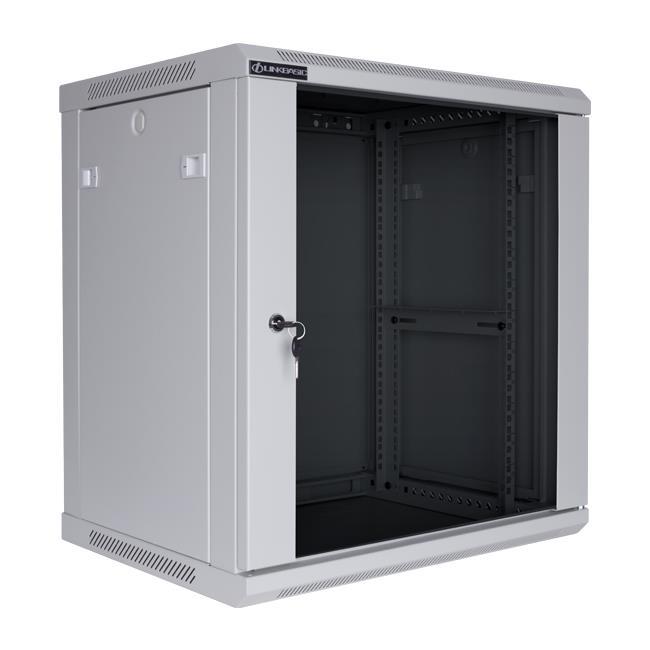 Linkbasic rack wall-mounting cabinet 19'' 15U 600x600mm grey (glass front door)
