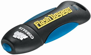 Corsair USB Flash Voyager 16GB; gumový povrch, nárazu a voděodolný