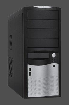 PC skříň Eurocase ATX ML 5410 Middle Tower, zdroj 450W (černo-stříbrná)